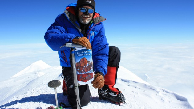 Mike on Denali's summit, June 18, 2014.