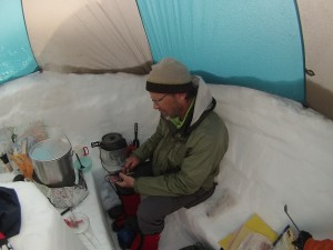 Cooking with the PowerPot on Denali.